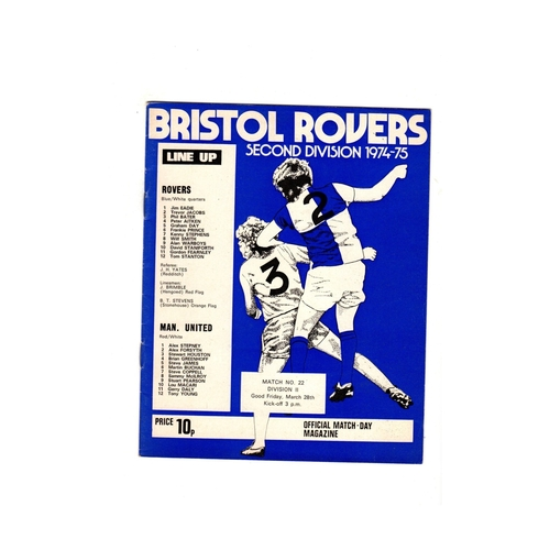 Bristol Rovers Home Football Programmes