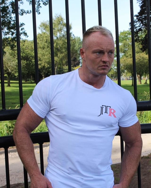JTR Men's Muscle Tee White