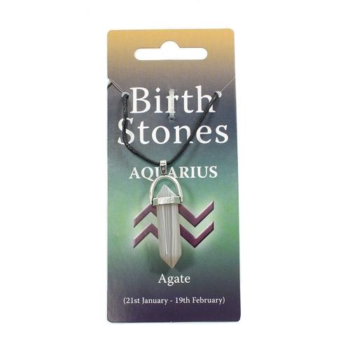 Aquarius Birthstone Pendant