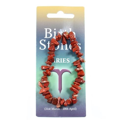 Aries Birthstone Chip Bracelet