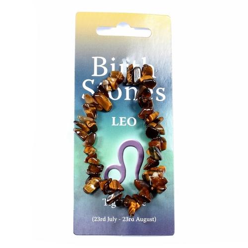 Leo Birthstone Chip Bracelet