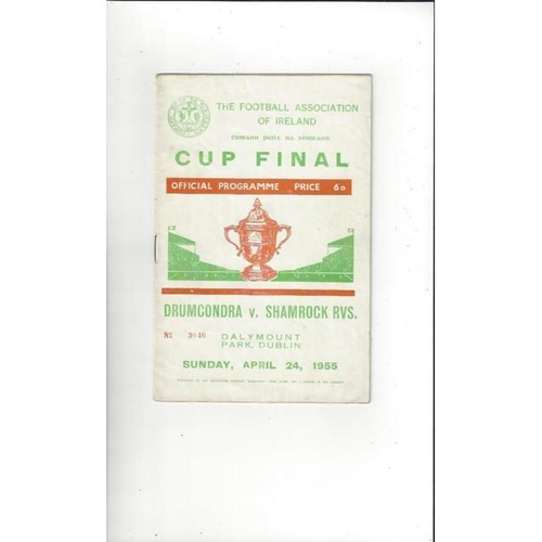 1955 Drumcondra v Shamrock Rovers FAI Cup Final Football Programme