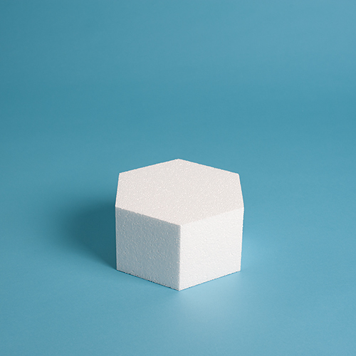 "Hexagon Cake Dummy 7"" Height"