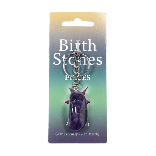 Pisces Birthstone Keyring
