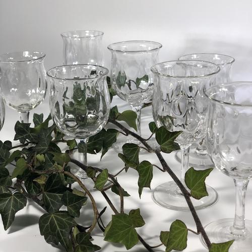 Eight Arts & Crafts Thomas Webb optical glasses