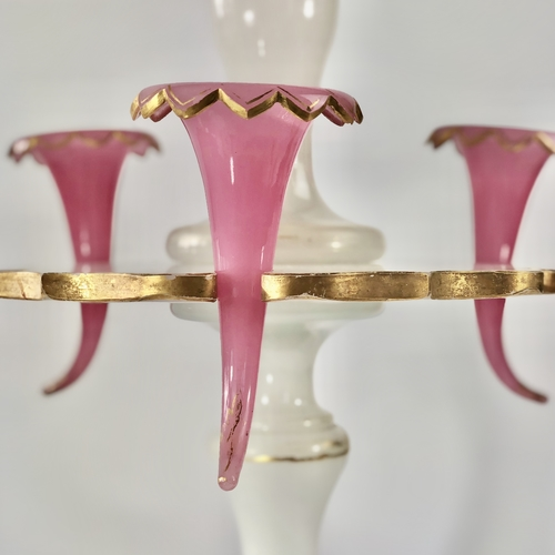 Giant 19th Century English glass centrepiece epergne vase