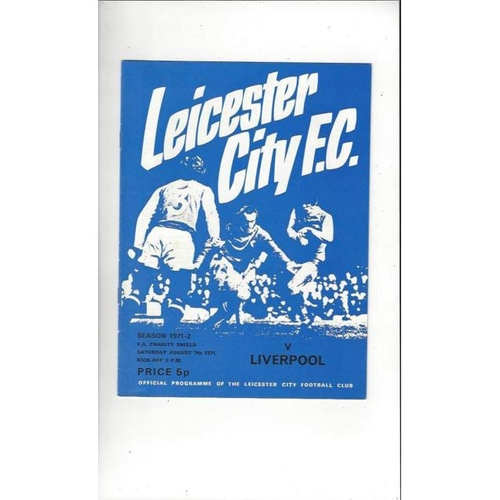 1971 Leicester City v Liverpool Charity Shield Football Programme