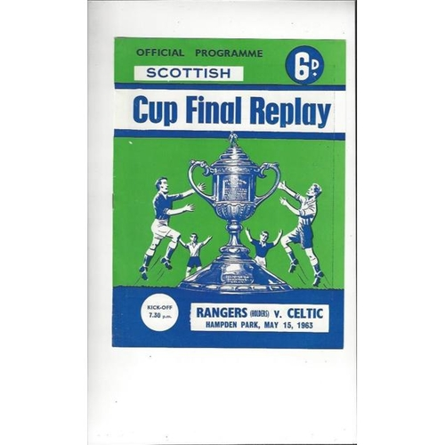 1963 Rangers v Celtic Scottish Cup Final Replay Football Programme