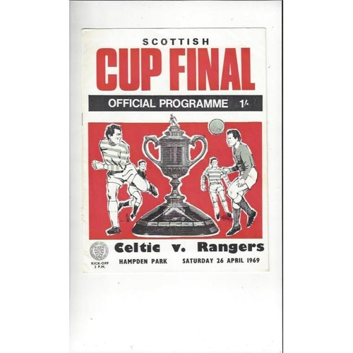 1969 Celtic v Rangers Scottish Cup Final Football Programme
