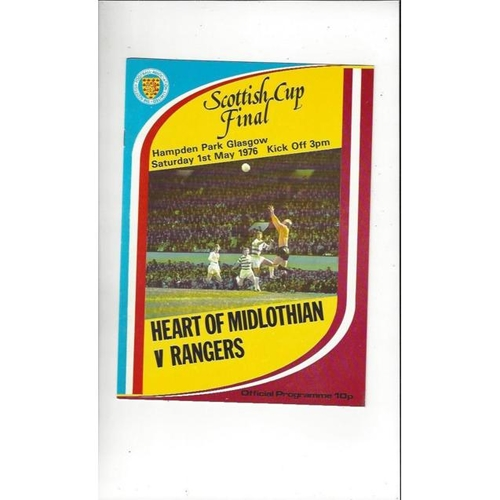 1976 Hearts v Rangers Scottish Cup Final Football Programme