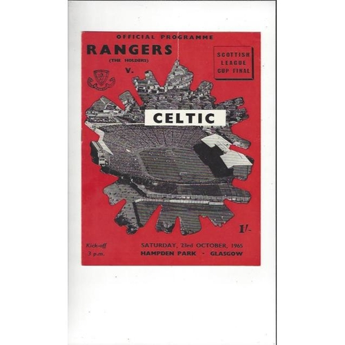 1965 Rangers v Celtic Scottish League Cup Final Football Programme