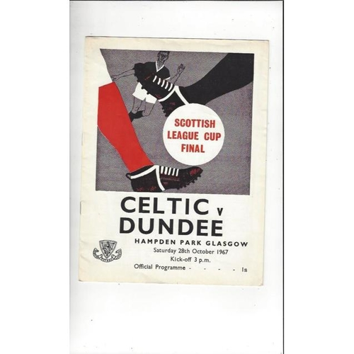 1967 Celtic v Dundee Scottish League Cup Final Football Programme