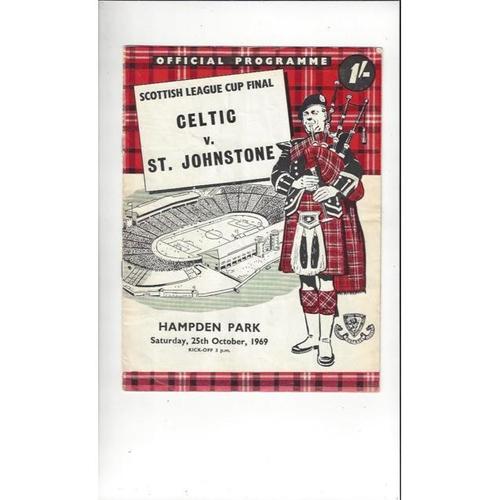 1969 Celtic v St Johnstone Scottish League Cup Final Football Programme Oct.
