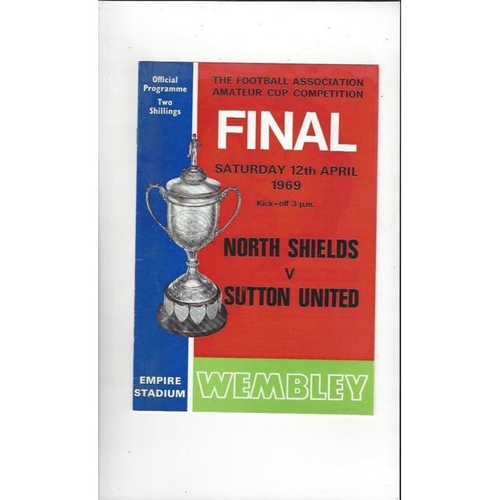 1969 North Shields v Sutton United Amateur Cup Final Football Programme