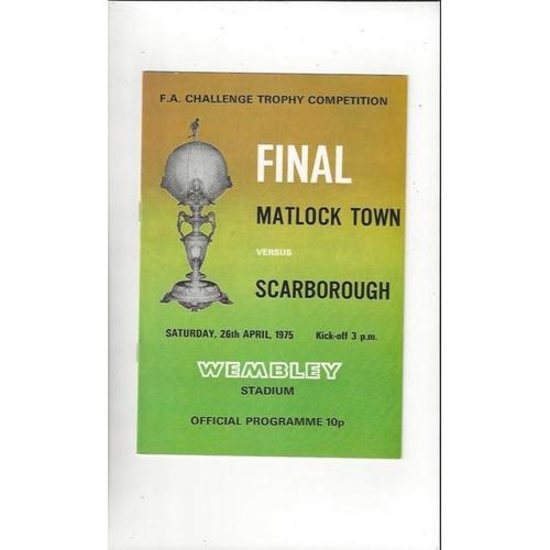 FA Trophy Final Football Programmes