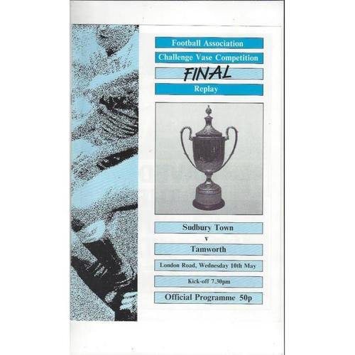 1989 Sudbury Town v Tamworth FA Vase Final Replay Football Programme