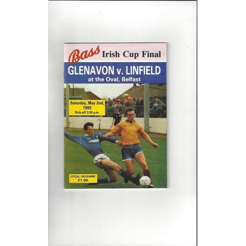 Northern Ireland Cup Final Football Programmes