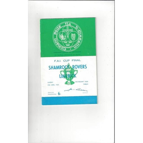 1965 Shamrock Rovers v Limerick FAI Cup Final Football Programme