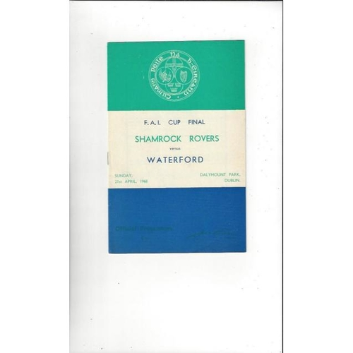 1968 Shamrock Rovers v Waterford FAI Cup Final Football Programme