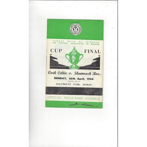 Republic of Ireland Cup Final Football Programmes