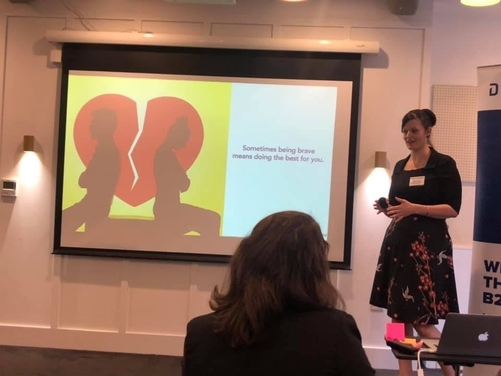 Inspirational Speaking at Demand Base's networking event