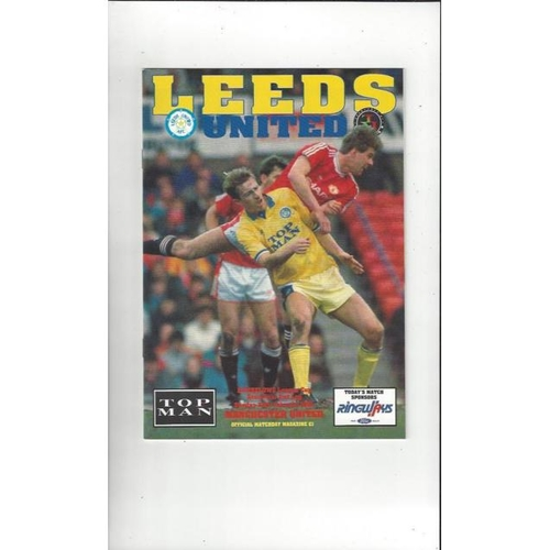 1990/91 Leeds United v Manchester United League Cup Semi Final Football Programme