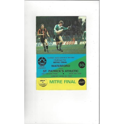 1980 Waterford v St Patrick's Athletic FAI Cup Final Football Programme