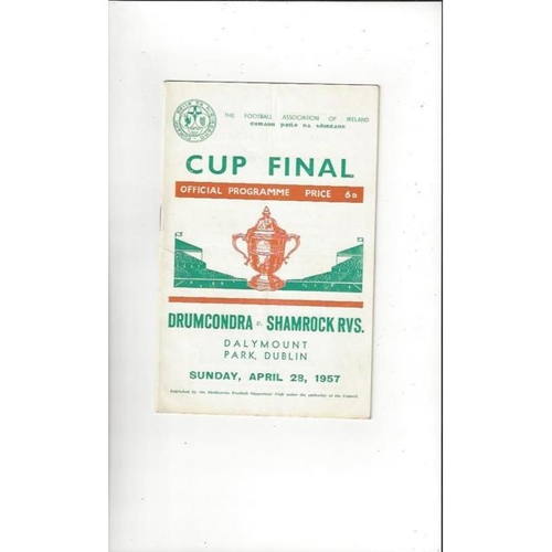 1957 Drumcondra v Shamrock Rovers FAI Cup Final Football Programme