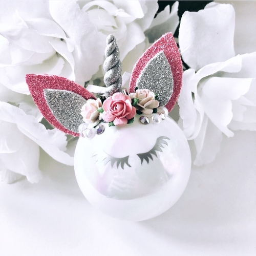 Unicorn Bauble Pink