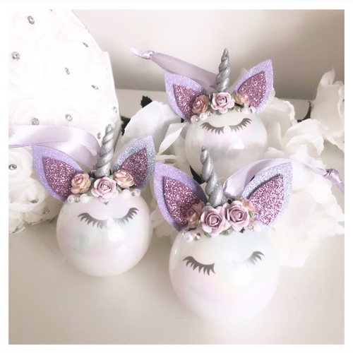 Unicorn Bauble Lilac