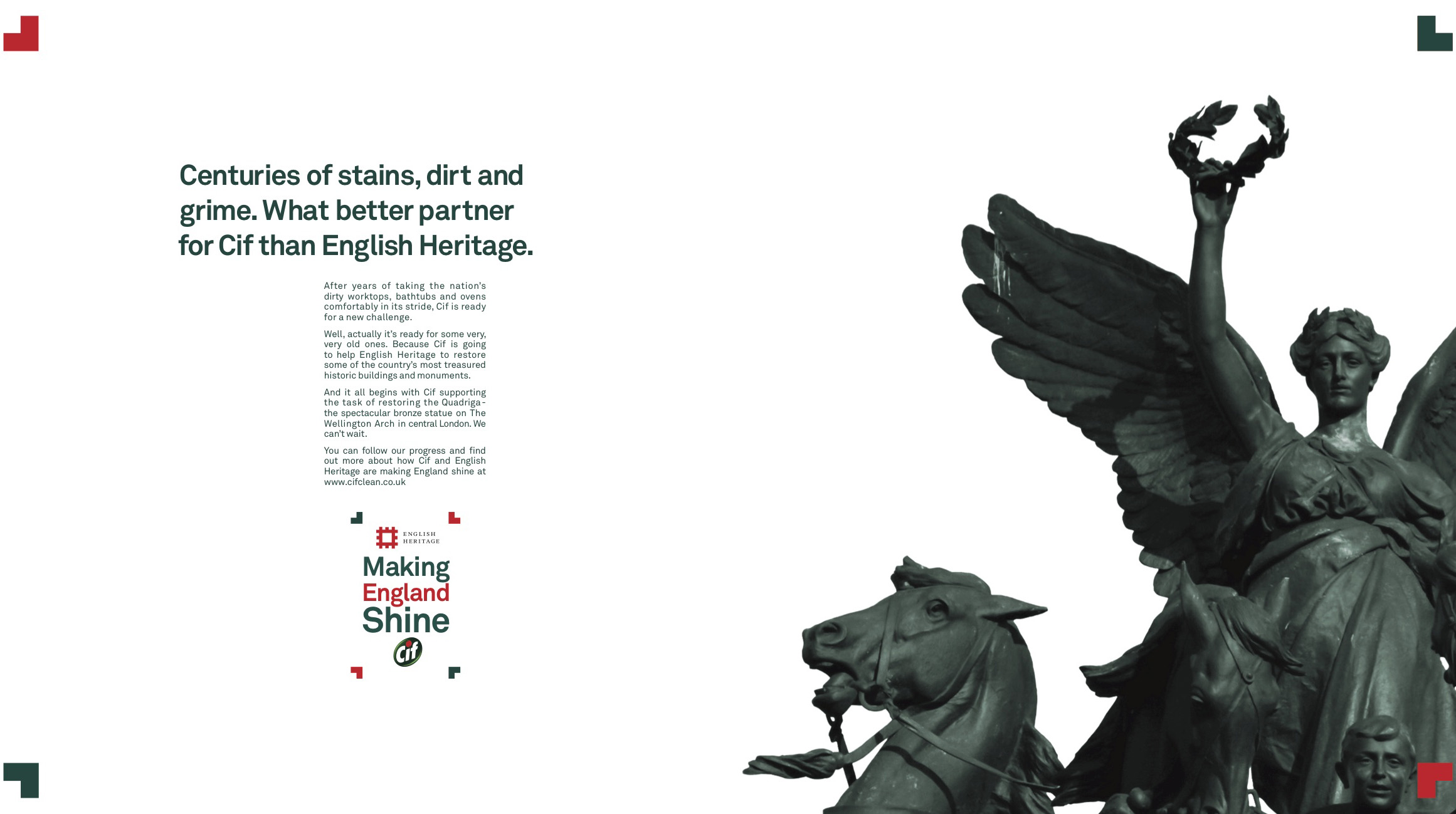 Cif launch partnership with English Heritage