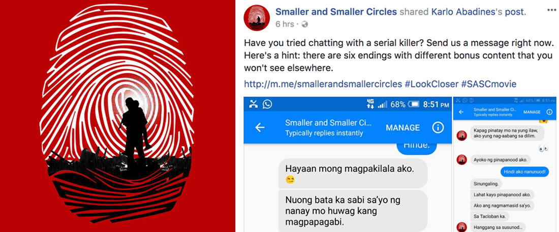 Smaller and Smaller Circles Serial Killer Chatbot Launched