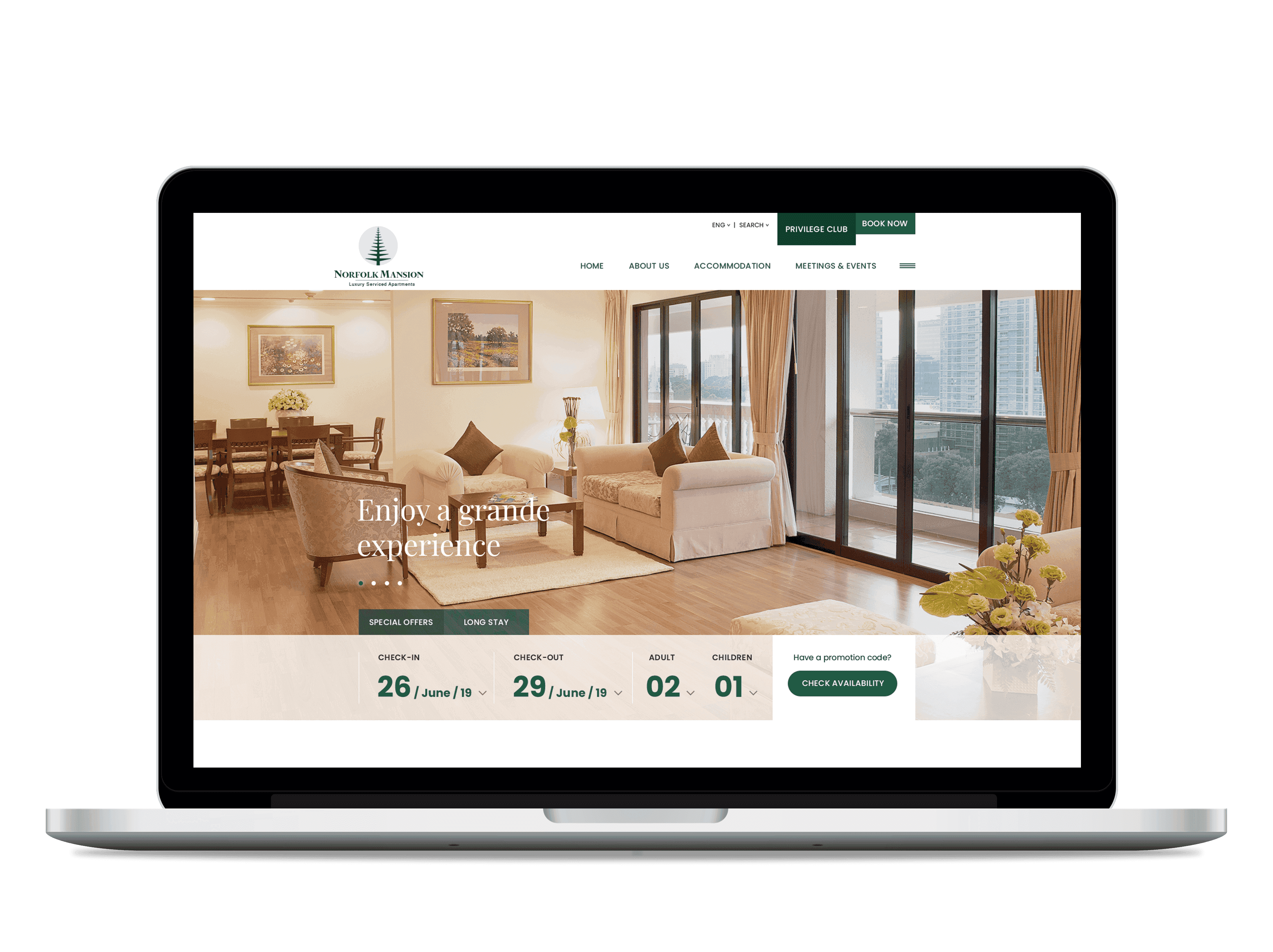 Web tech for leading hotel/hospitality group of Vietnam: Norfolk group