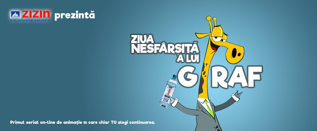 The never ending day of Giraf – an interactive allegory presented by the mineral water ZIZIN and MullenLowe