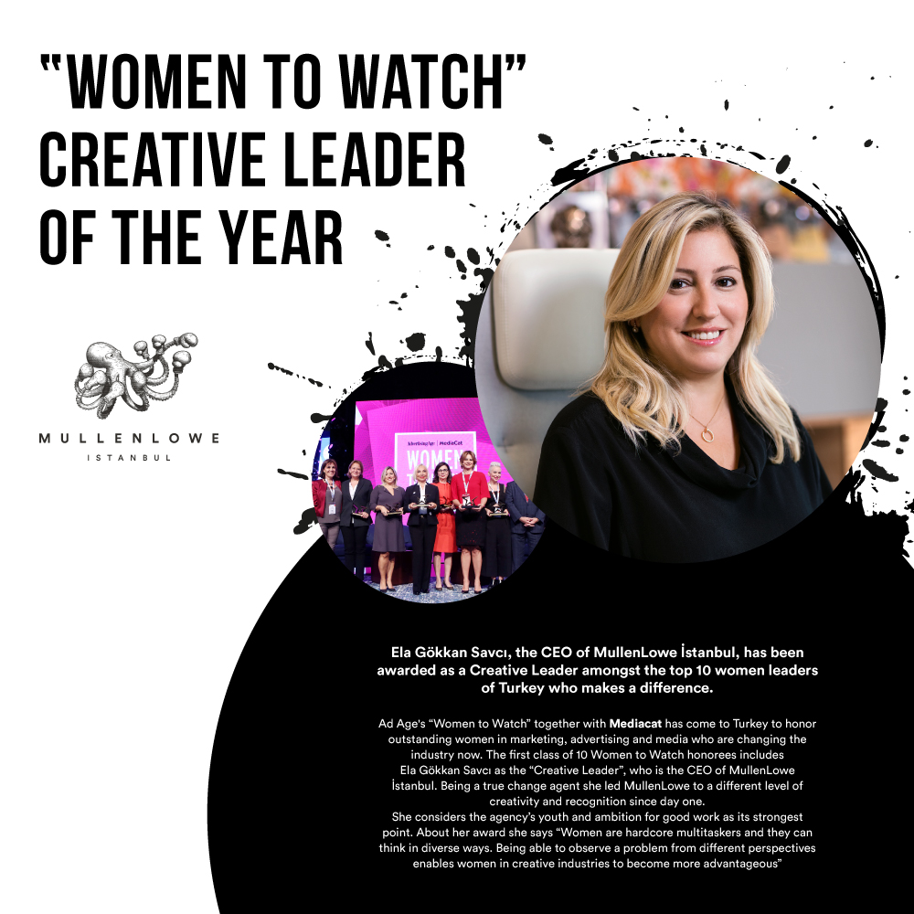 """WOMEN TO WATCH"" CREATIVE LEADER OF THE YEAR"