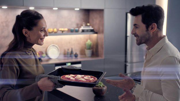 Siemens'le evde pizza keyfi.