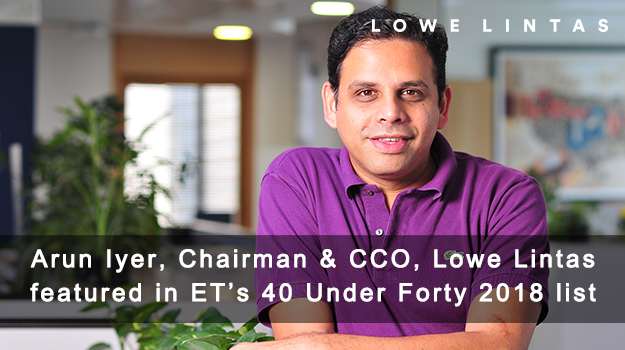 Arun Iyer features in Economic Times' 40 Under Forty 2018 list