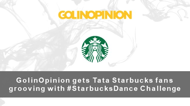 GolinOpinion gets Tata Starbucks fans grooving with the #StarbucksDance Challenge