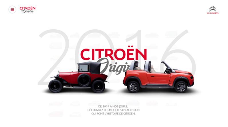Site Citroën Origins