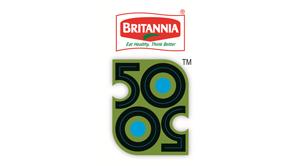Britannia 50-50 logo
