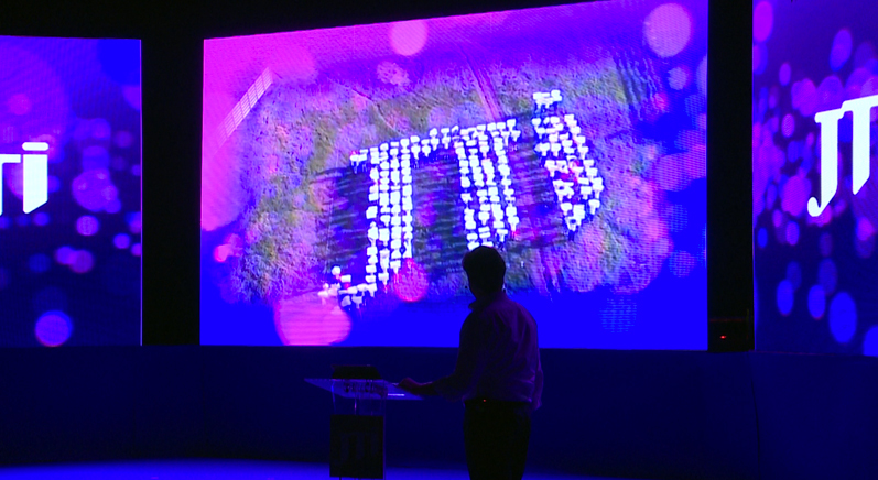 JTI 20th anniversary, Regional movie, LED display