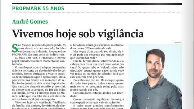 ANDRÉ GOMES NA EDIÇÃO ESPECIAL DO PROPMARK