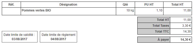 Facturer Avec Deux Taxes Montant Taxes TGC TSS DOM TOM Facturation Facile Utile
