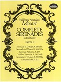 W.A. Mozart: Complete Serenades In Full Score - Series I. Orchestra Sheet Music