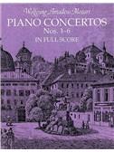 W.A. Mozart: Piano Concertos Nos.1-6 Full Score