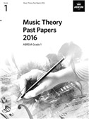 ABRSM Music Theory Past Papers 2016: Grade 1