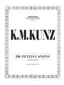 Konrad Kunz: 200 Petits Canons