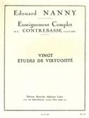 Edouard Nanny: 20 Études De Virtuosité (Double Bass)