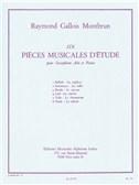 Six Pièces Musicales D'étude Pour Saxophone Alto Et Piano