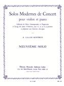 Raymond Gallois-Montbrun: Solos modernes de Concert No.9 (Violin & Piano)